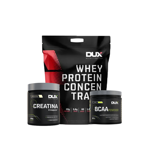 Dux: Whey Concentrado (1,8kg) + Creatina (300g) + BCAA Powder (200g)