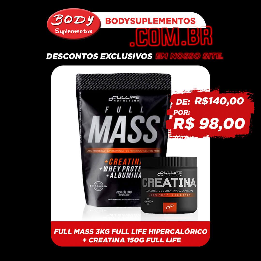 Oferta Body - Full mass 3kg + creatina 150g full life