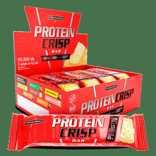 Protein Crisp Bar IntegralMedica - Caixa (12 Unidades) (45g/unidade)