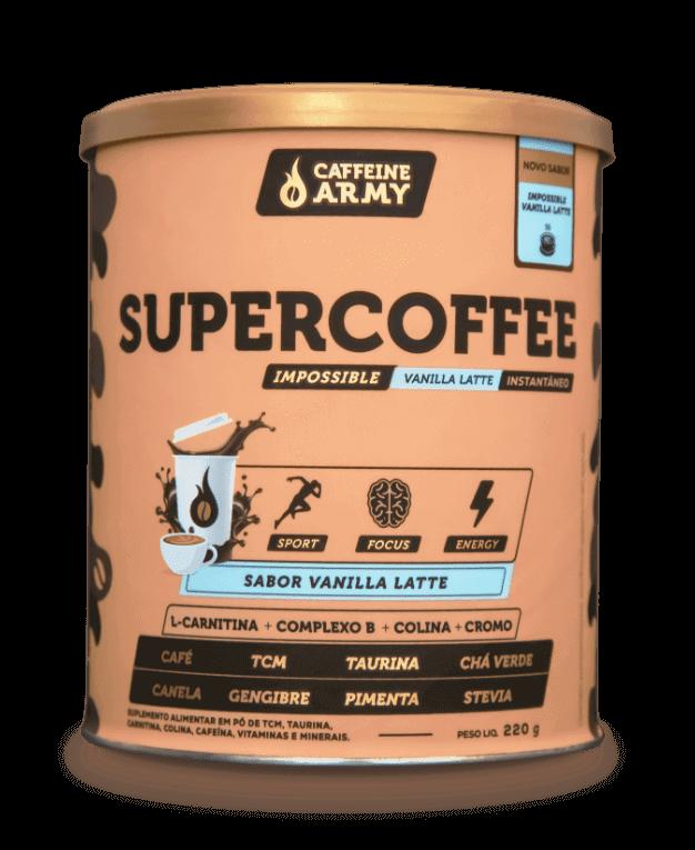 SuperCoffee 2.0 Sabor Baunilha Lattee (220g) - Caffeine Army