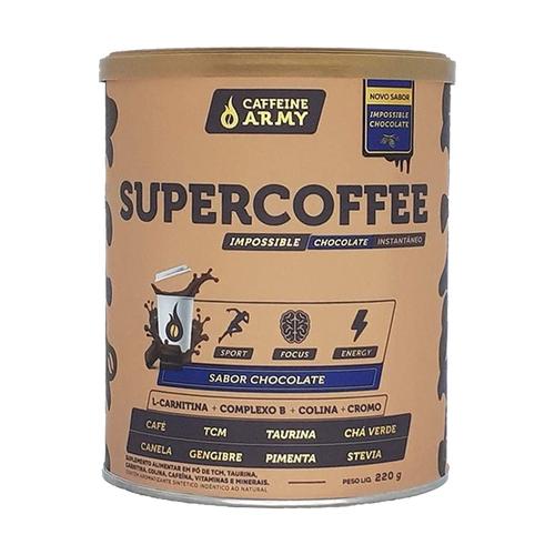 Supercoffee caffeine chocolate 220g - Army