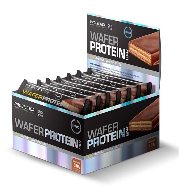 Wafer Protein Bar Probiótica -  Caixa(12Unidades)(30g/Unidade)