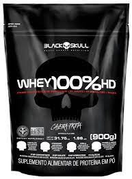 WHEY 100% HD BLACK SKULL - 900 GRAMAS REFIL (WPC, WPI E WPH)
