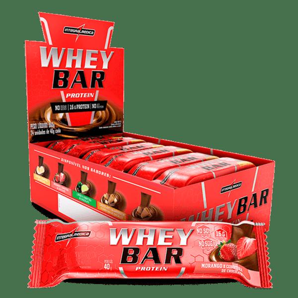 Whey Bar IntegralMedica -Caixa (24 Unidades) (40g/Unidade)