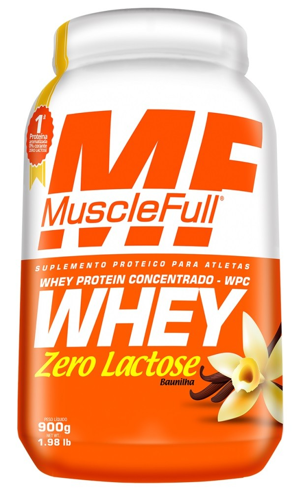 Whey Zero Lactose Wpc - MuscleFull - 900g