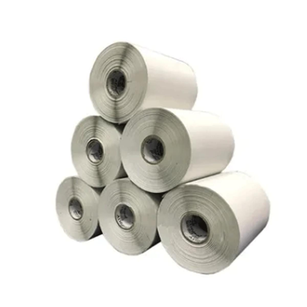 6 Rolos de Etiquetas Premium 10x15 Neutra Branca Serrilha Mercado Envios