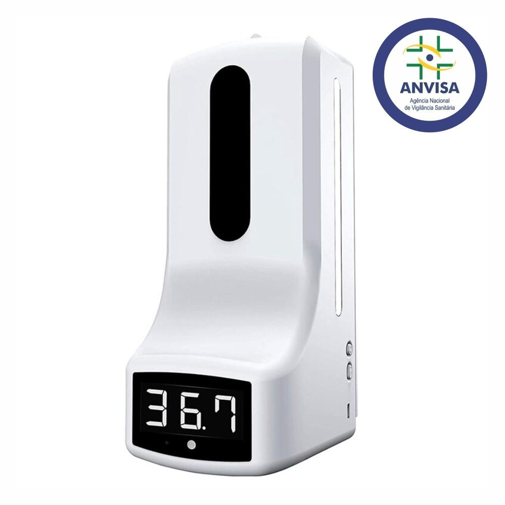 Termômetro Digital TD 2 em 1 com dispenser automático de Álcool Gel