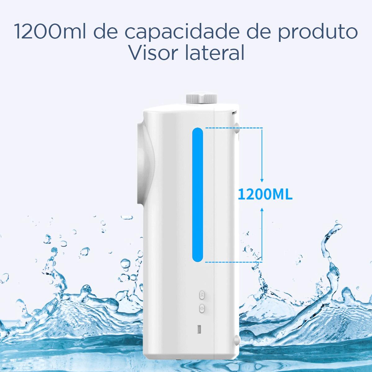 Termômetro Digital TD PRO DUAL 2 em 1 com dispenser automático de Álcool Gel ( Fala Português )