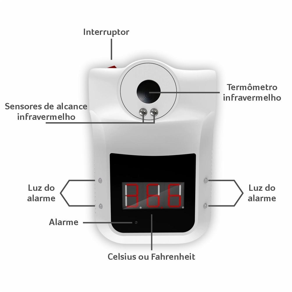Termômetro Digital TPA Infravermelho