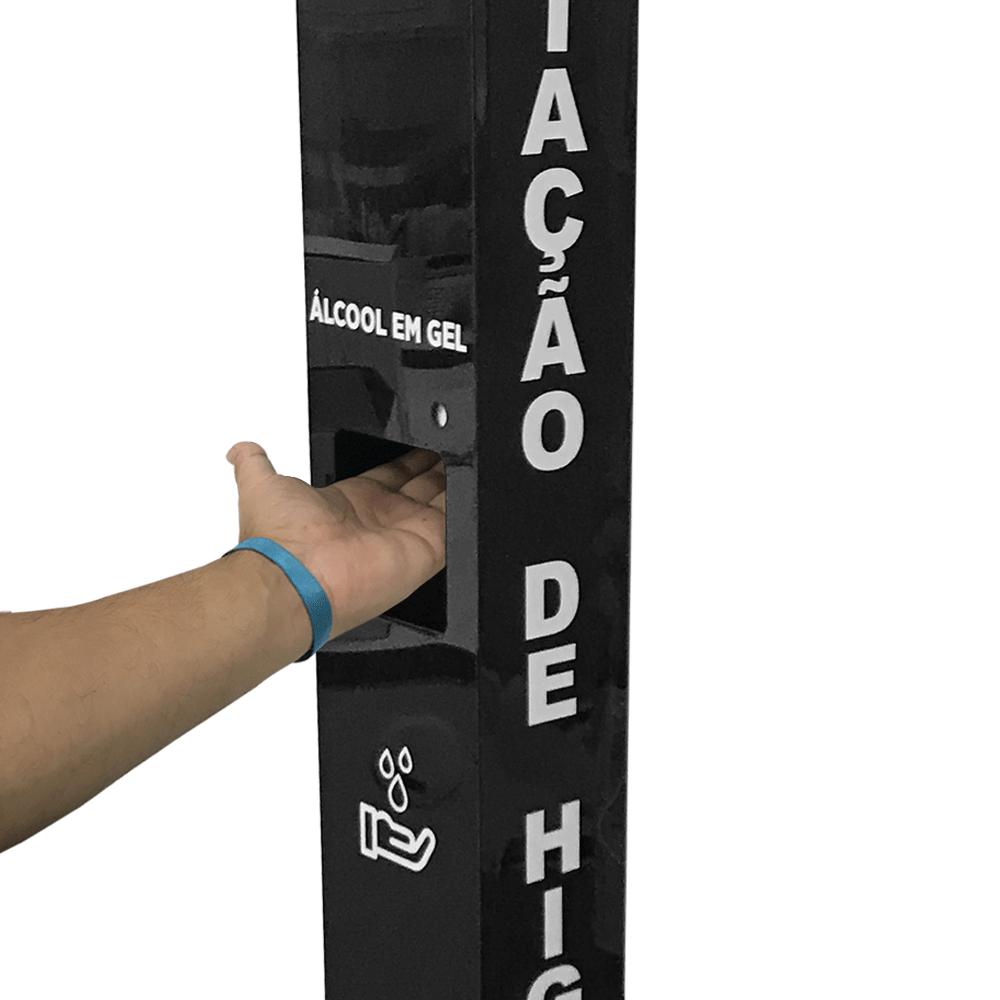 Totem Estação de Higienização Automático Acrílico Luxo