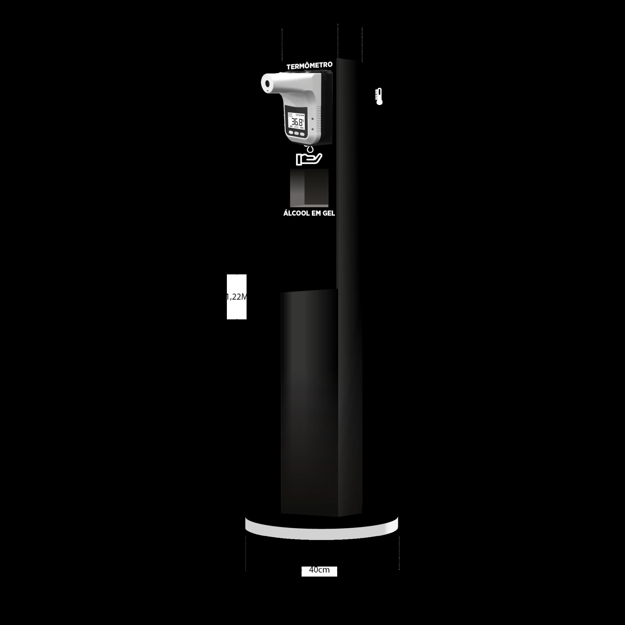 Totem Estação de Higienização Automático Acrílico Luxo Médio