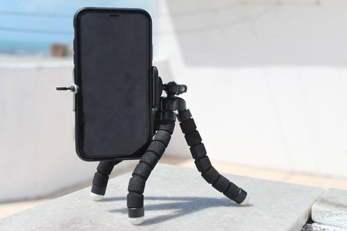Mini Tripé De Mesa Para Celular Gira 360º Com Controle