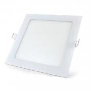 Plafon LED Embutir 18W Quadrado / Branco Frio