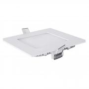 Plafon LED Embutir 6W Quadrado / Branco Frio