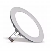 Plafon LED Embutir 6W Redondo / Branco quente