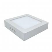 Plafon LED Sobrepor 12W Quadrado / Branco Frio