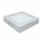 Plafon LED Sobrepor 24W Quadrado / Branco Quente