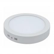 Plafon LED Sobrepor 24W Redondo / Branco Quente