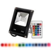 Refletor LED 10W RGB Com Controle