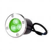 Spot blindado de chão 3w / Verde