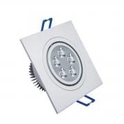 Spot LED 5W Quadrado / Branco Quente
