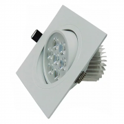 Spot LED 7W Quadrado / Branco Quente
