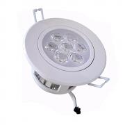 Spot LED 7W Redondo / Branco Quente