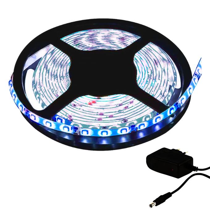 Fita LED 3528 5m / Com Fonte / Azul