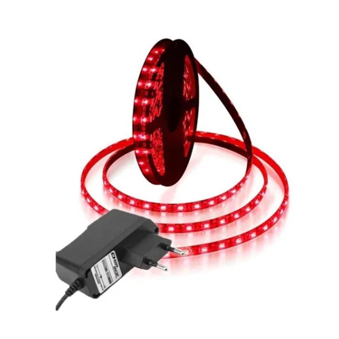 Fita LED 5050 5m/ Com Fonte/ Vermelha
