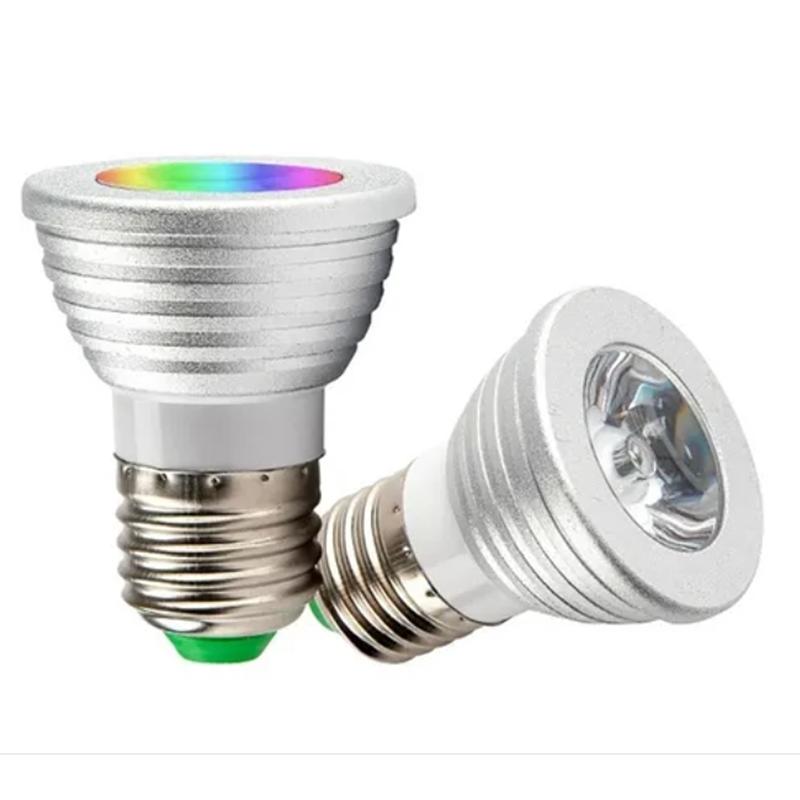 Lâmpada LED Dicróica E27 RGB Com Controle
