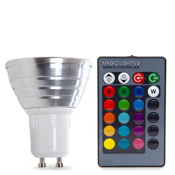 Lâmpada LED Dicróica GU10 RGB Com Controle