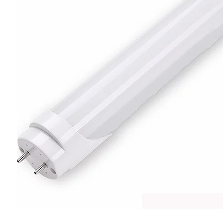 Lâmpada LED Tubular Leitosa/Cristal 9w 0,60m / Branco Quente