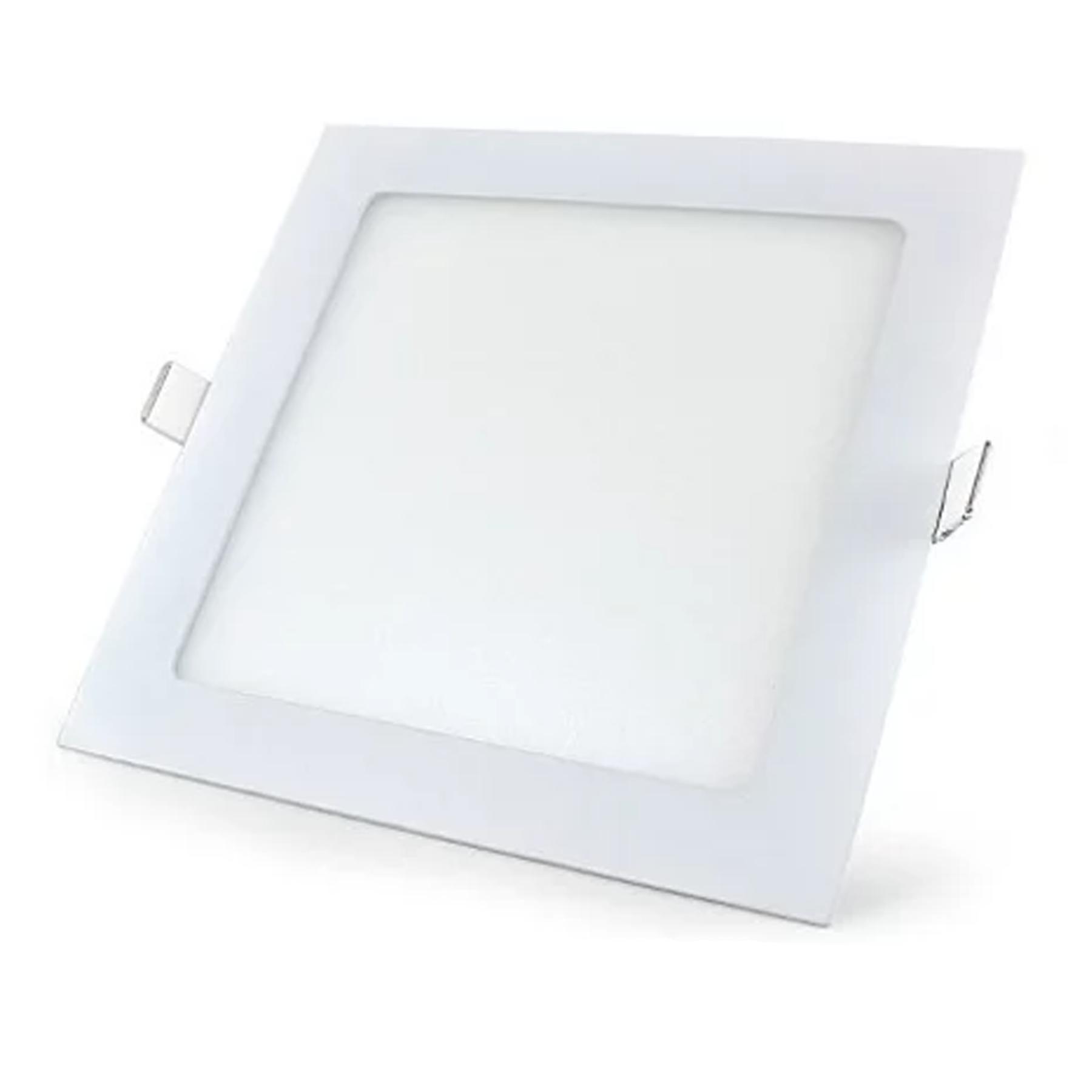 Plafon LED Embutir 12W Quadrado / Branco quente