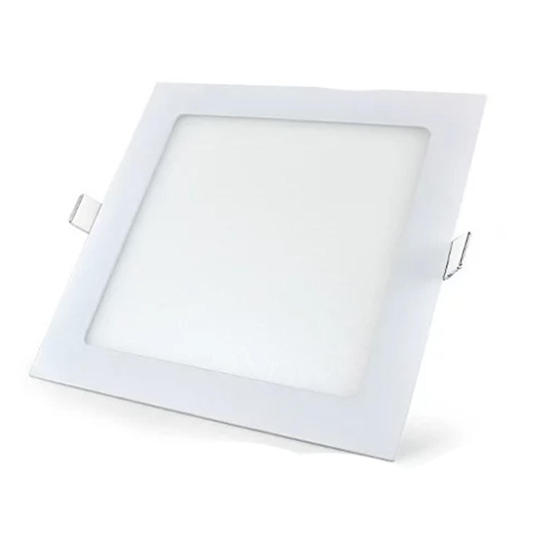 Plafon LED Embutir 18W Quadrado/ Branco quente