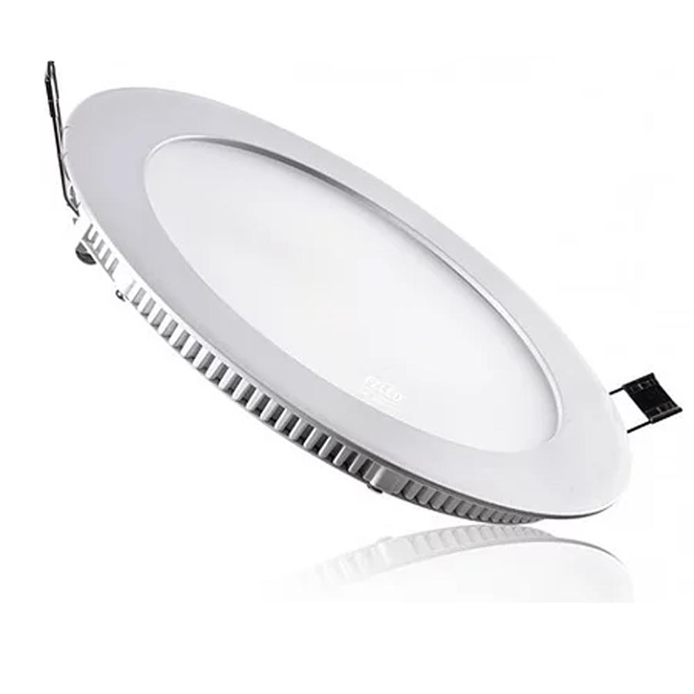 Plafon LED Embutir 18W Redondo / Branco quente
