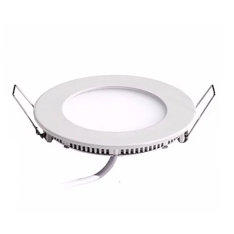 Plafon LED Embutir 3W Redondo / Branco quente