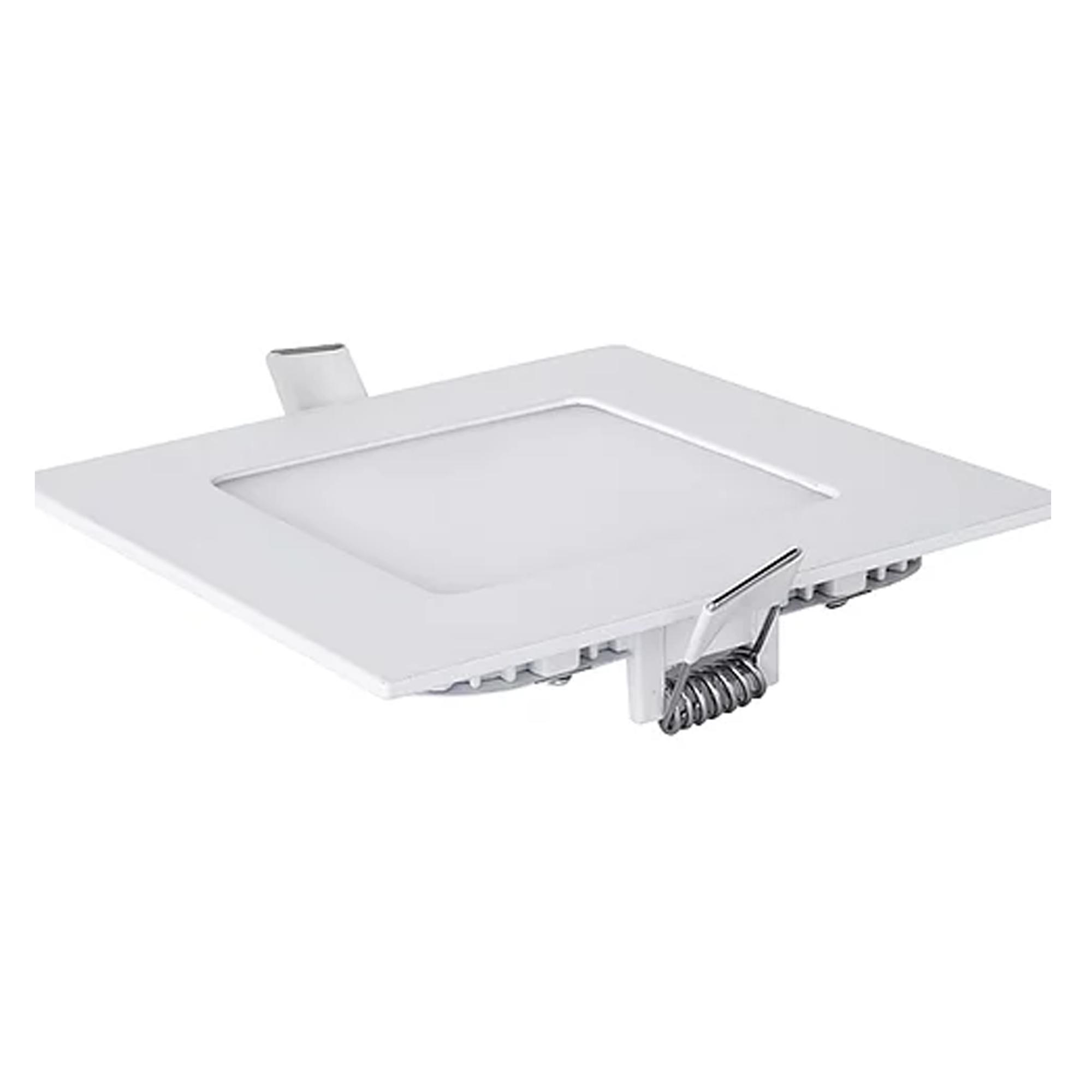 Plafon LED Embutir 6W Quadrado / Branco quente