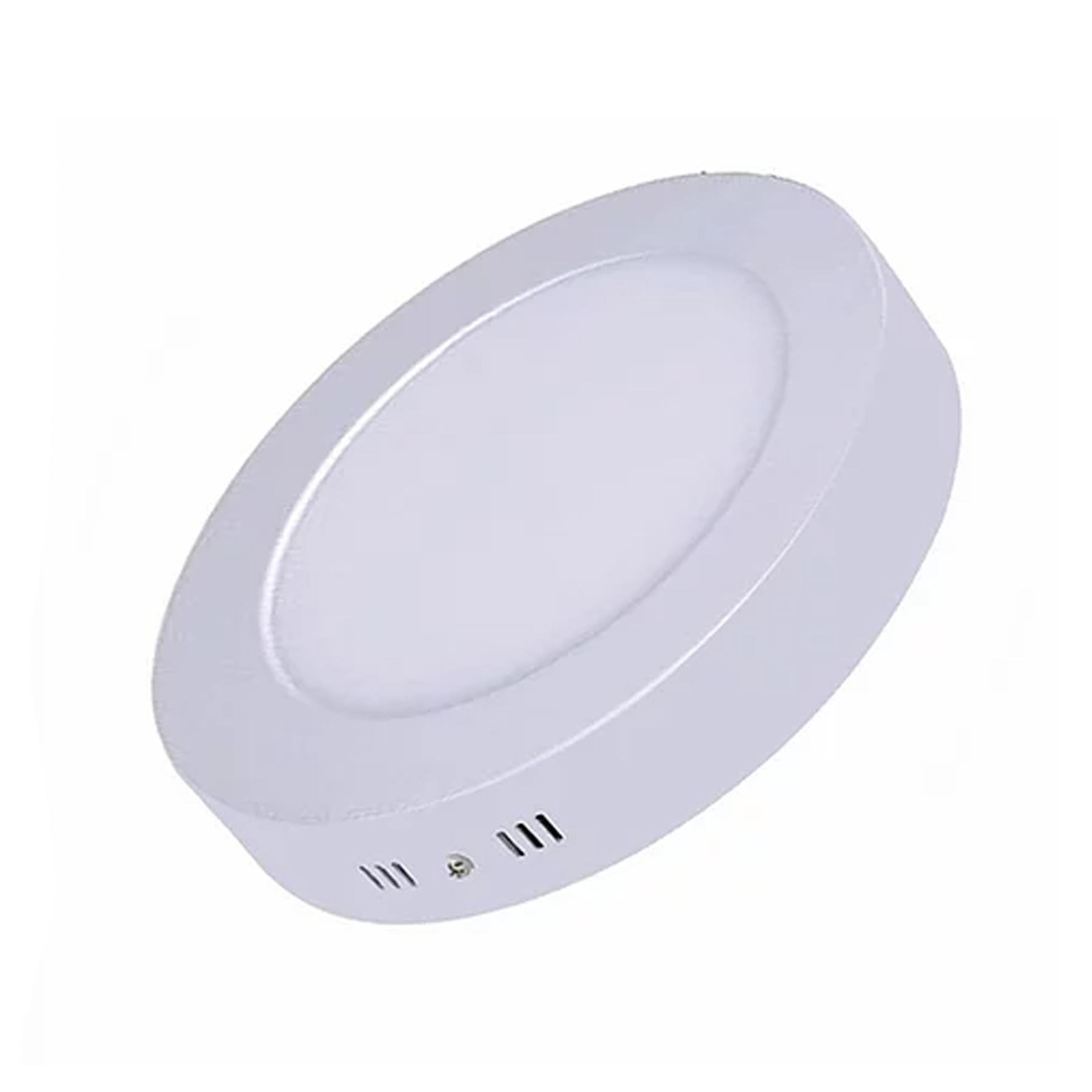 Plafon LED Sobrepor 12W Redondo / Branco Quente