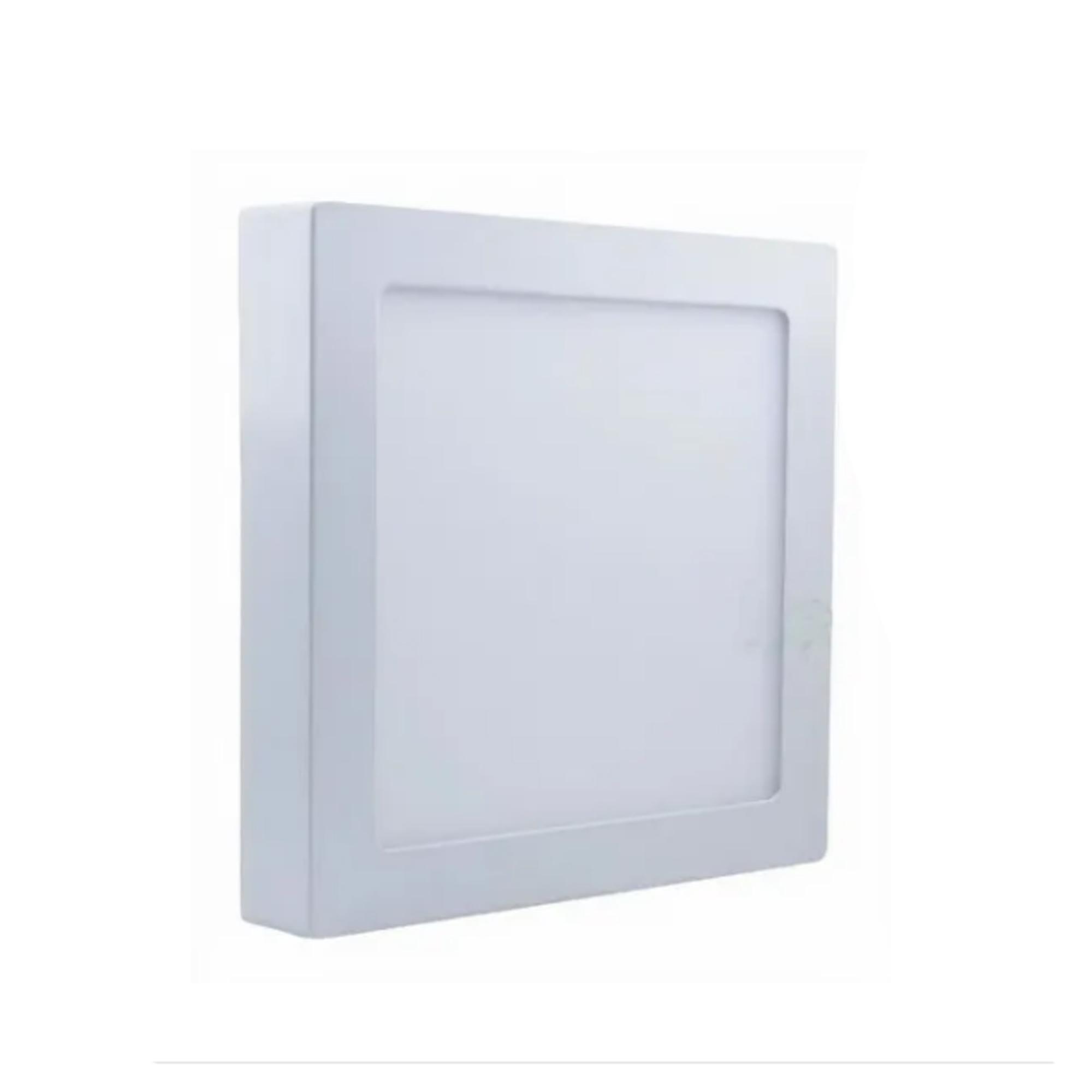 Plafon LED Sobrepor 18W Quadrado / Branco Frio