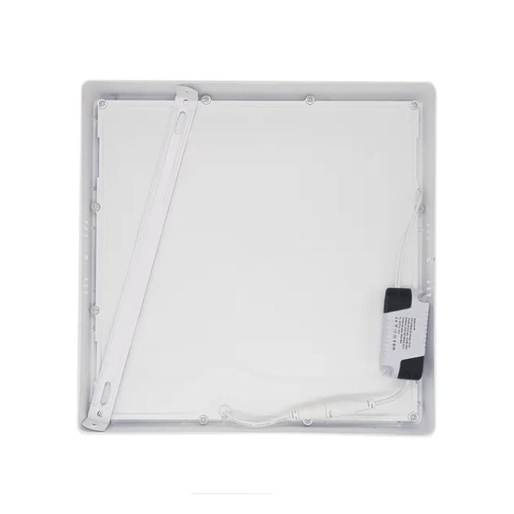 Plafon LED Sobrepor 18W Quadrado / Branco Quente