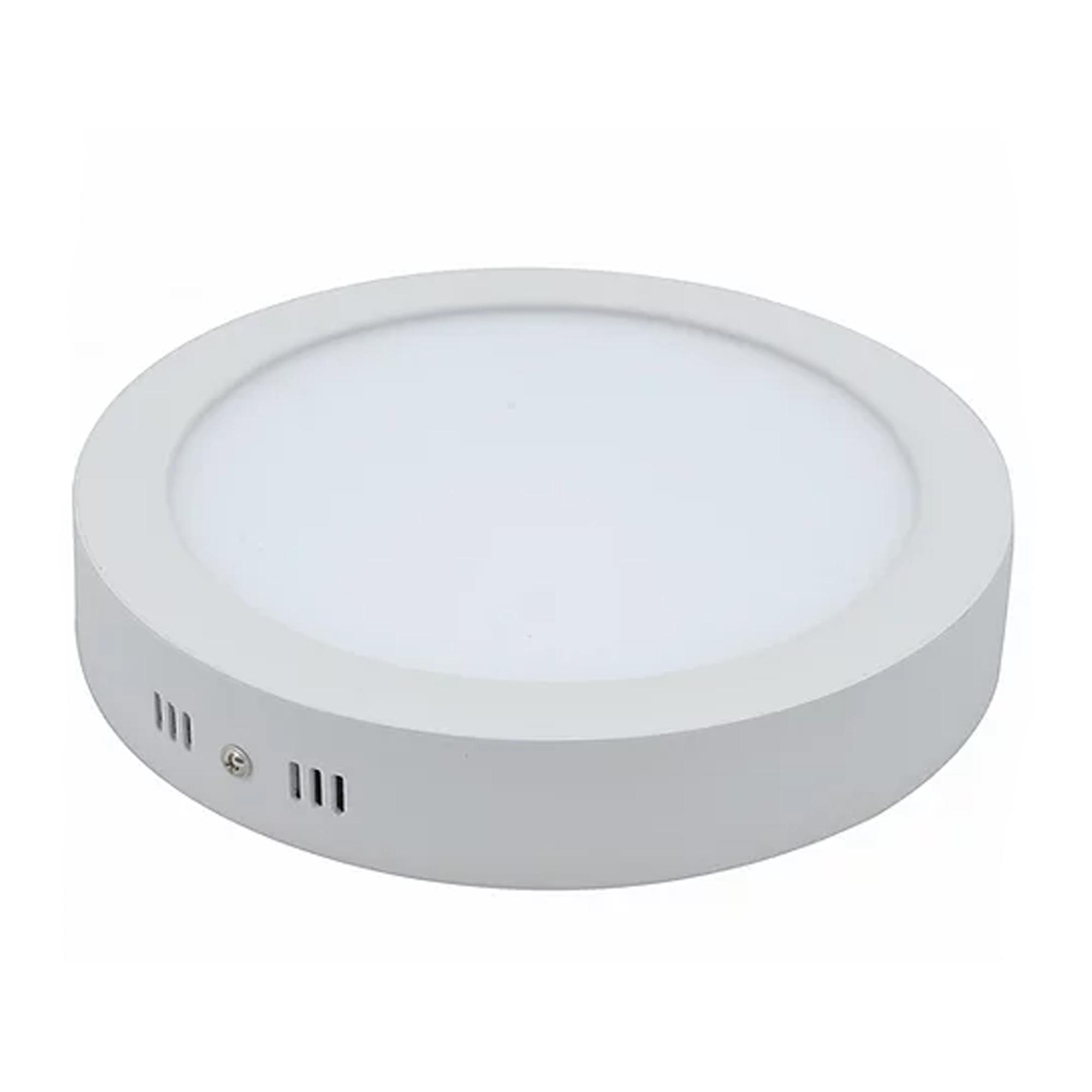 Plafon LED Sobrepor 36W Redondo / Branco quente