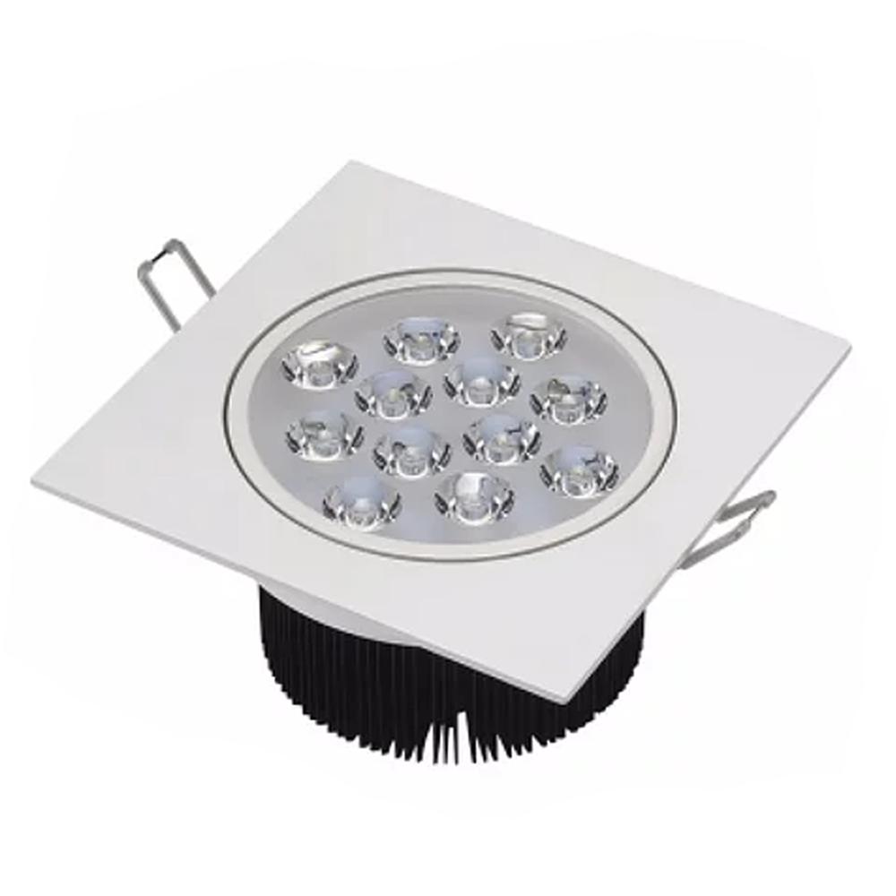 Spot LED 12W Quadrado / Branco Quente