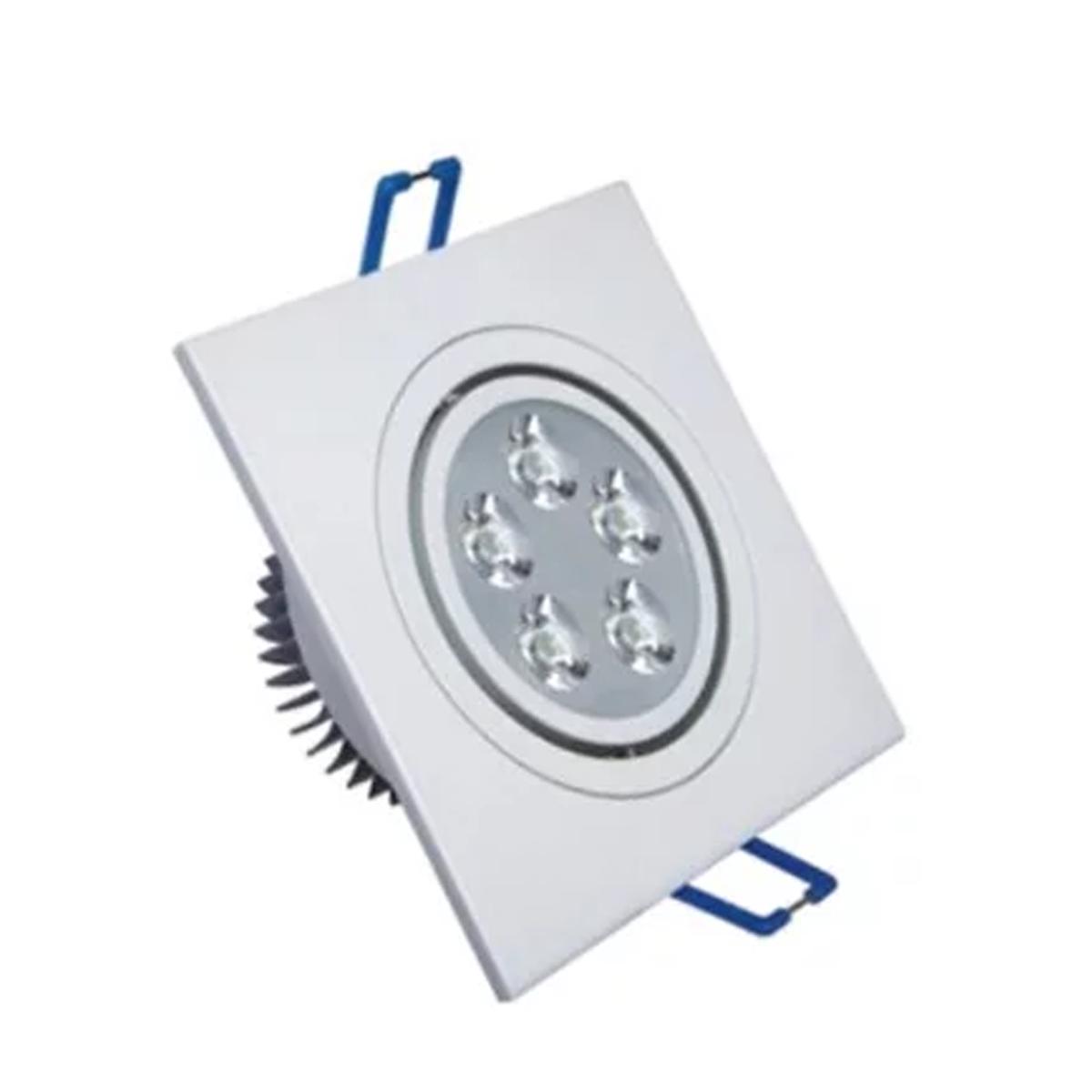 Spot LED 5W Quadrado / Branco Frio