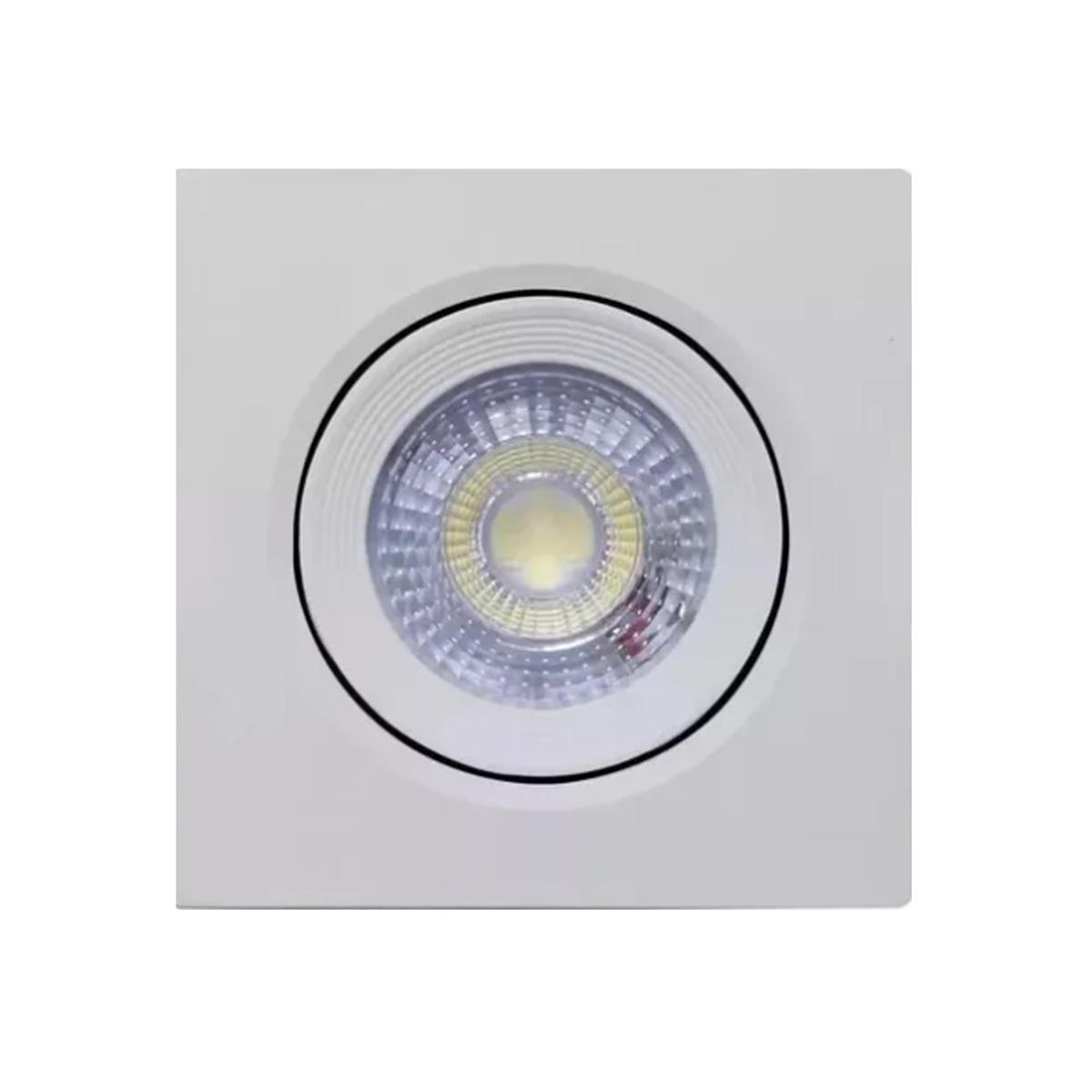 Spot LED 9w Quadrado / Branco Quente