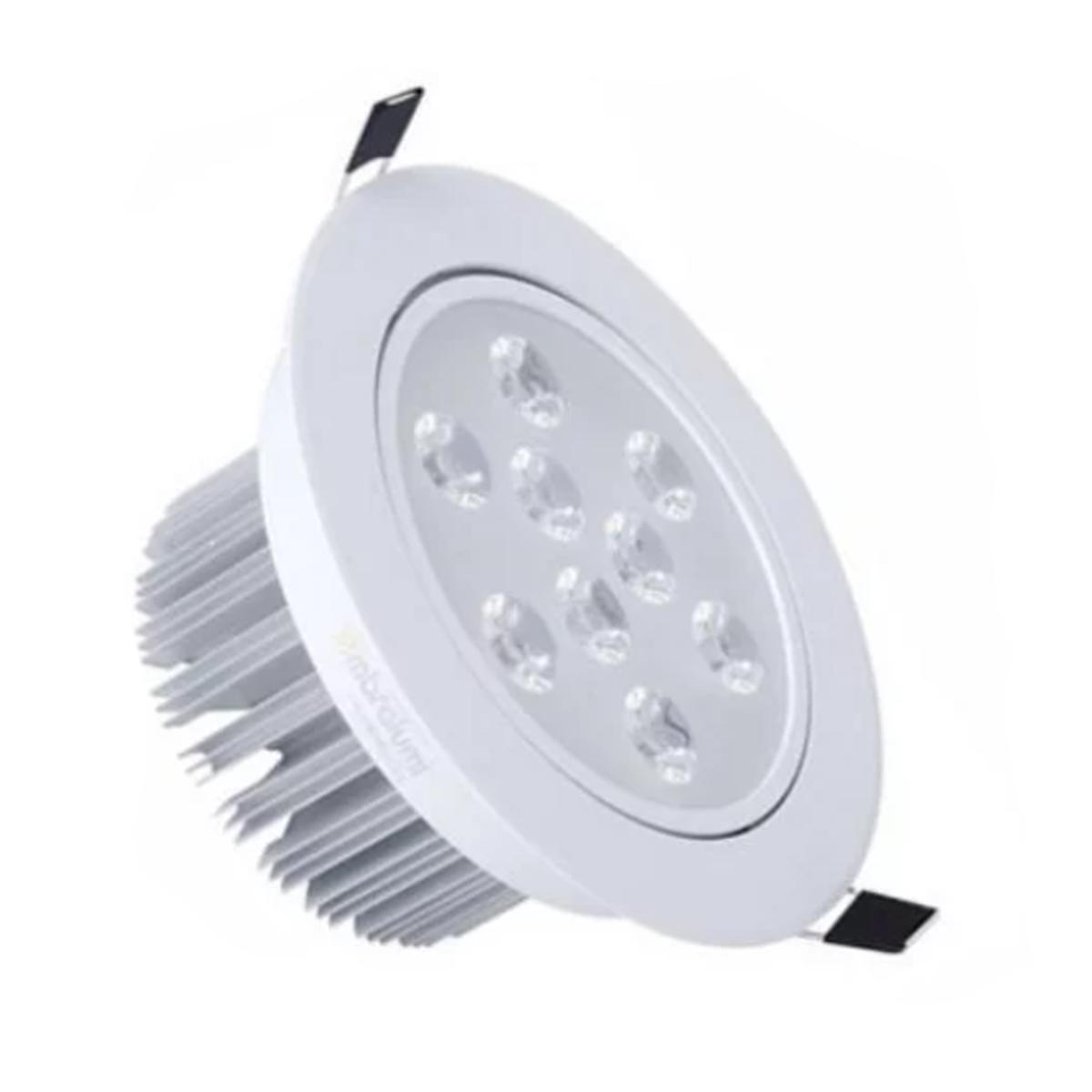 Spot LED 9W Redondo / Branco Quente