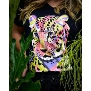 T-shirt Onça Colorida