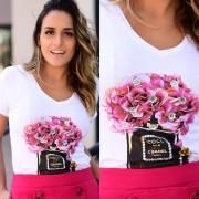 T-shirt Orquídea Branca
