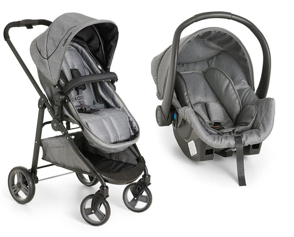 Carrinho Olympus c/ Bebê Conforto e Base - Galzerano