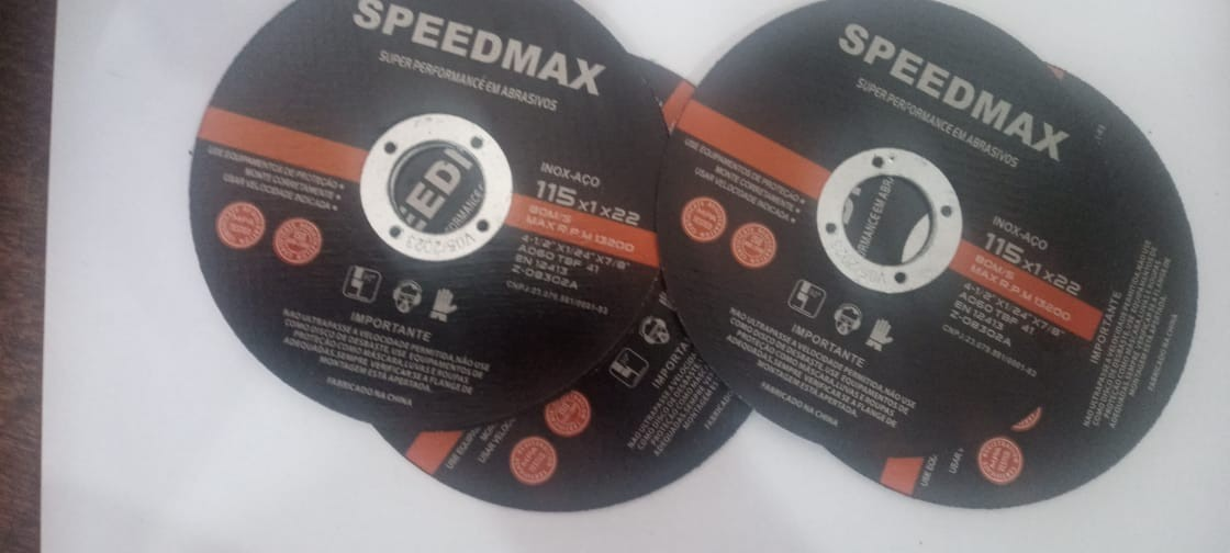 """DISCO DE CORTE SPEEDMAX 4.1/2"""" X 1,0MM PACOTE COM 10 UNI"""