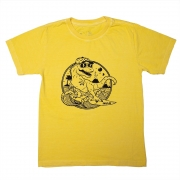 Camiseta Stone Amarela Estampa Frontal  Dino Calif